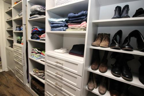 Gray Master Closets